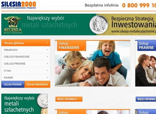 Strona internetowa Silesia2000