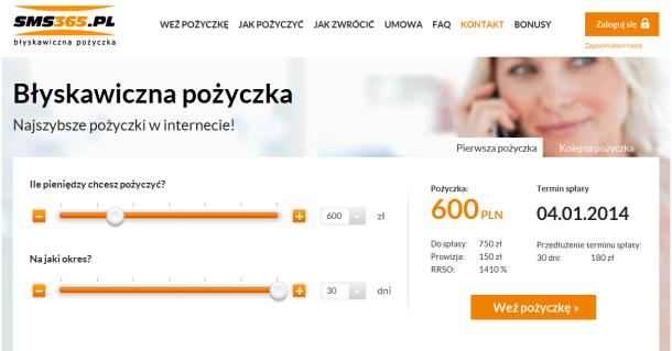 Strona SMS 365.